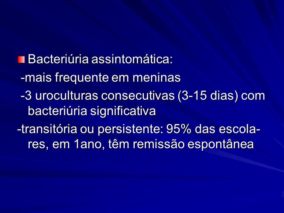 Bacteriúria assintomática: