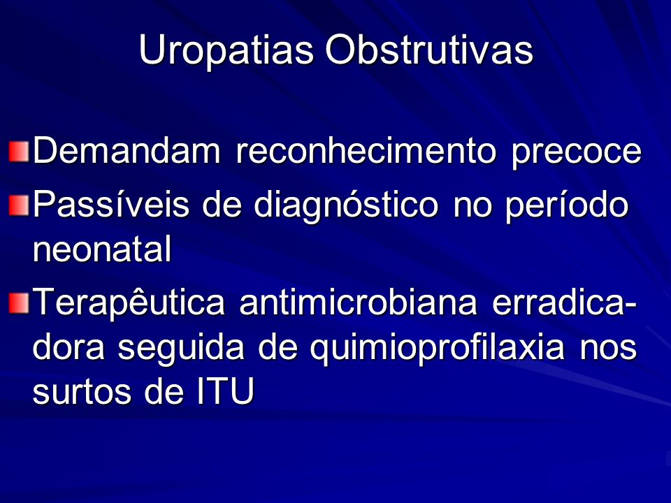Uropatias Obstrutivas