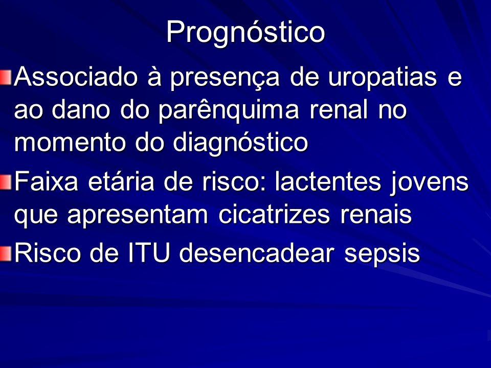 Prognóstico Associado à presença de uropatias e ao dano do parênquima renal no momento do diagnóstico.