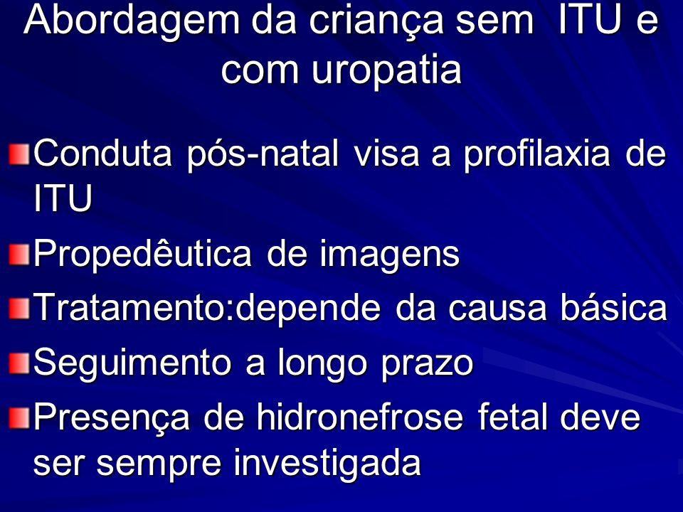 Abordagem da criança sem ITU e com uropatia