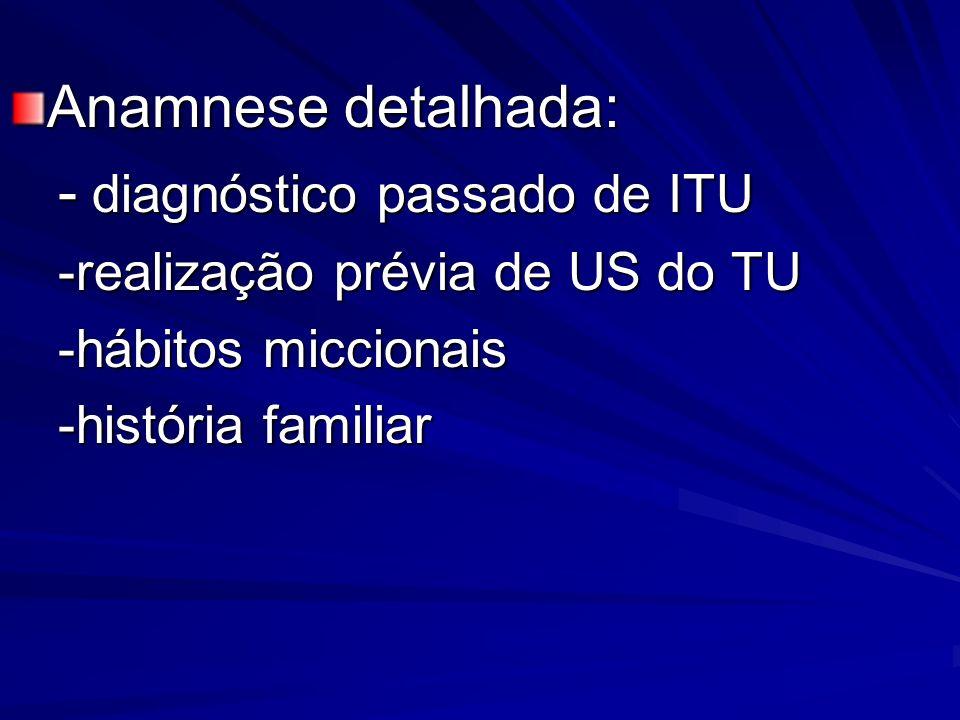 - diagnóstico passado de ITU