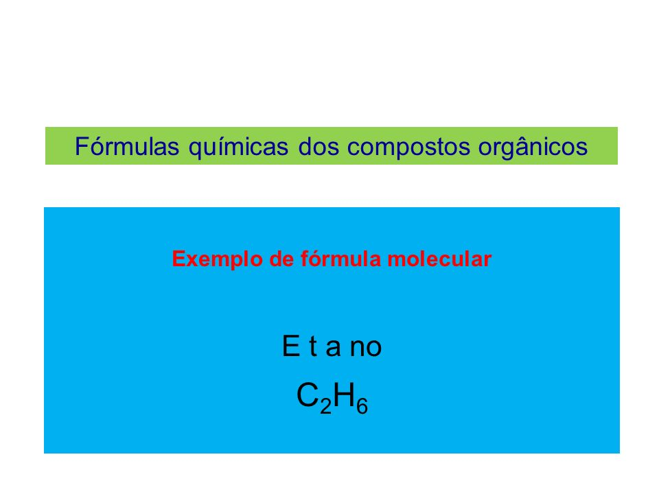 Exemplo de fórmula molecular