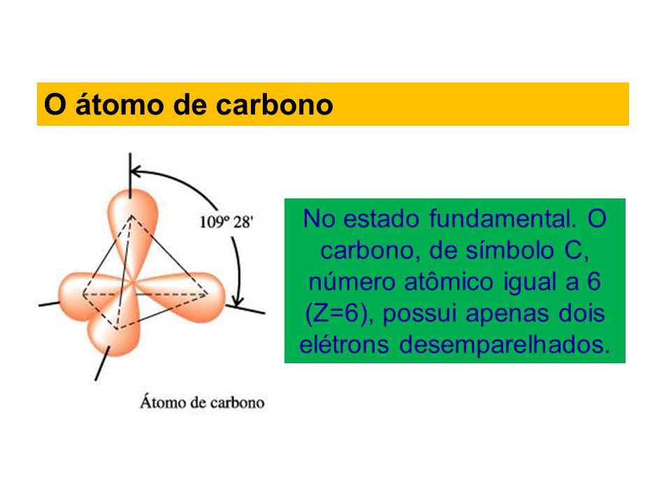 O átomo de carbono No estado fundamental.