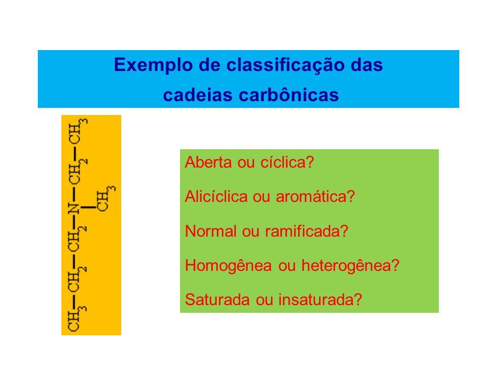 Exemplo de classificação das