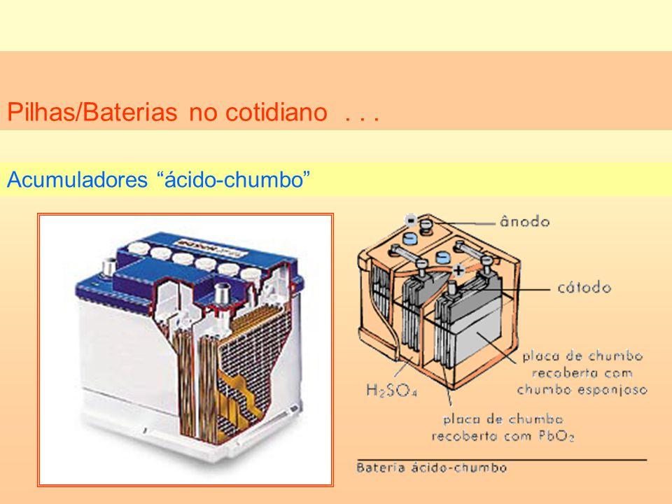 Pilhas/Baterias no cotidiano . . .