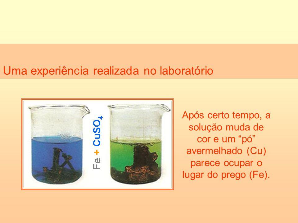 Uma experiência realizada no laboratório
