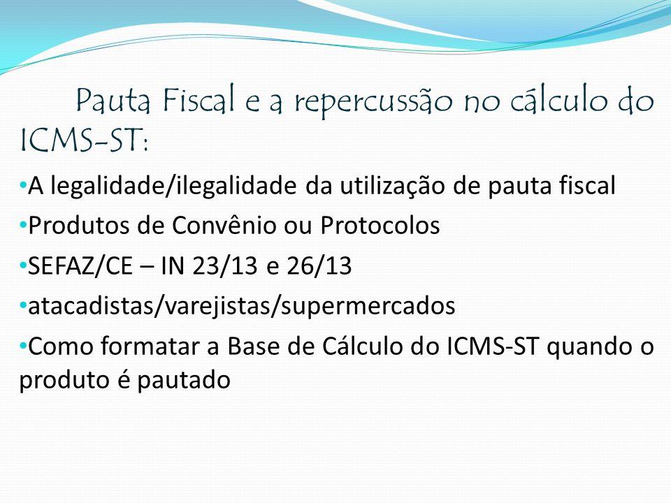 Pauta Fiscal e a repercussão no cálculo do ICMS-ST: