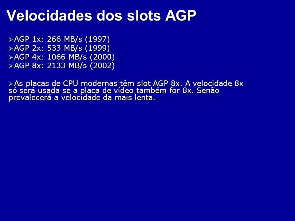 Velocidades dos slots AGP