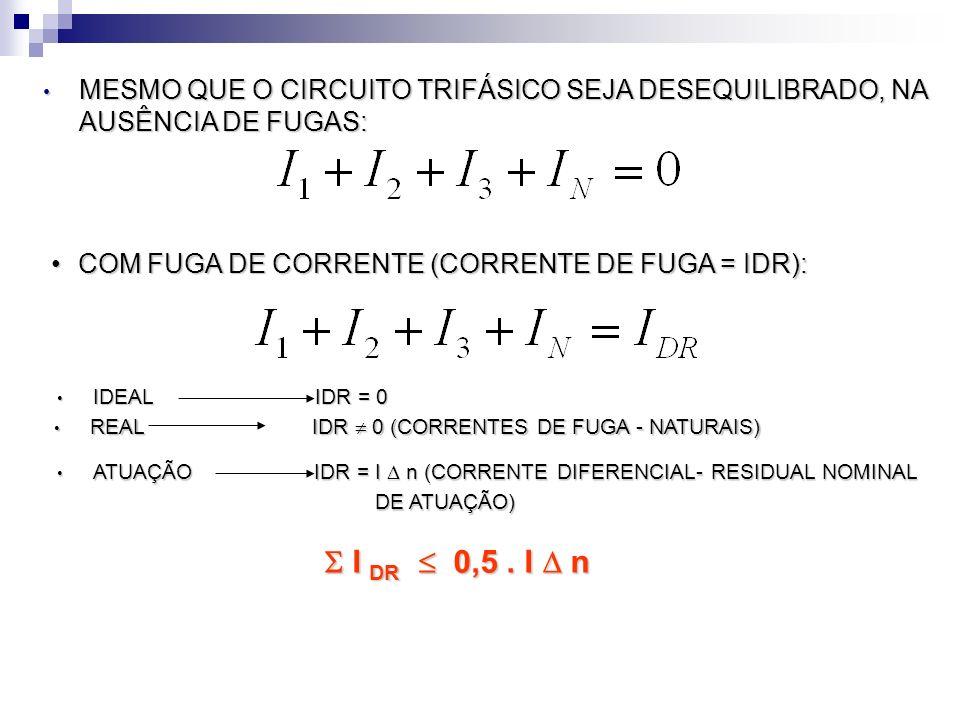 COM FUGA DE CORRENTE (CORRENTE DE FUGA = IDR):