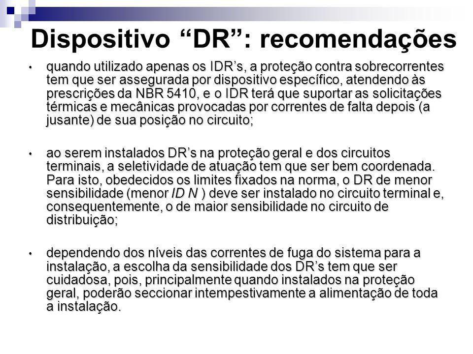 Dispositivo DR : recomendações