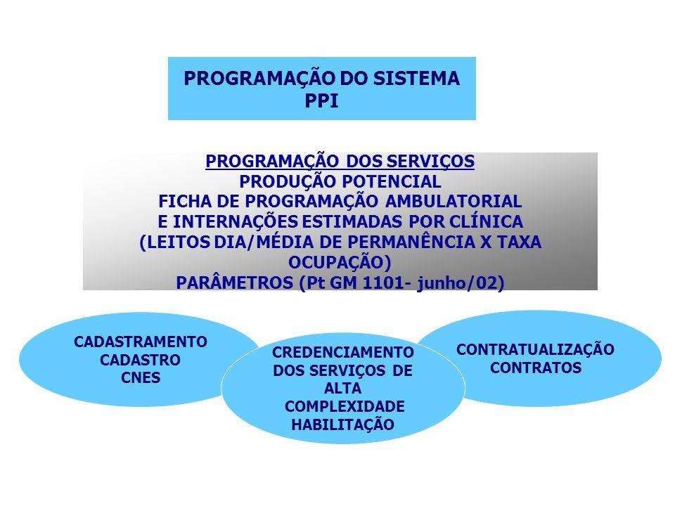 PROGRAMAÇÃO DO SISTEMA PPI
