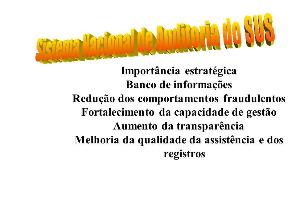Importância estratégica Banco de informações