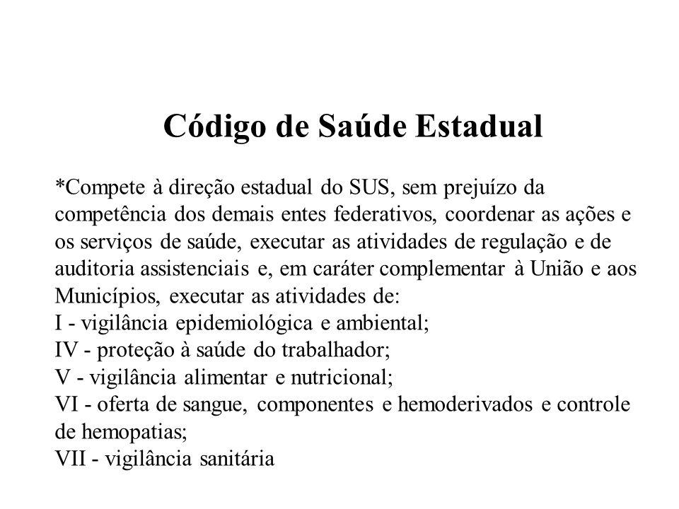 Código de Saúde Estadual