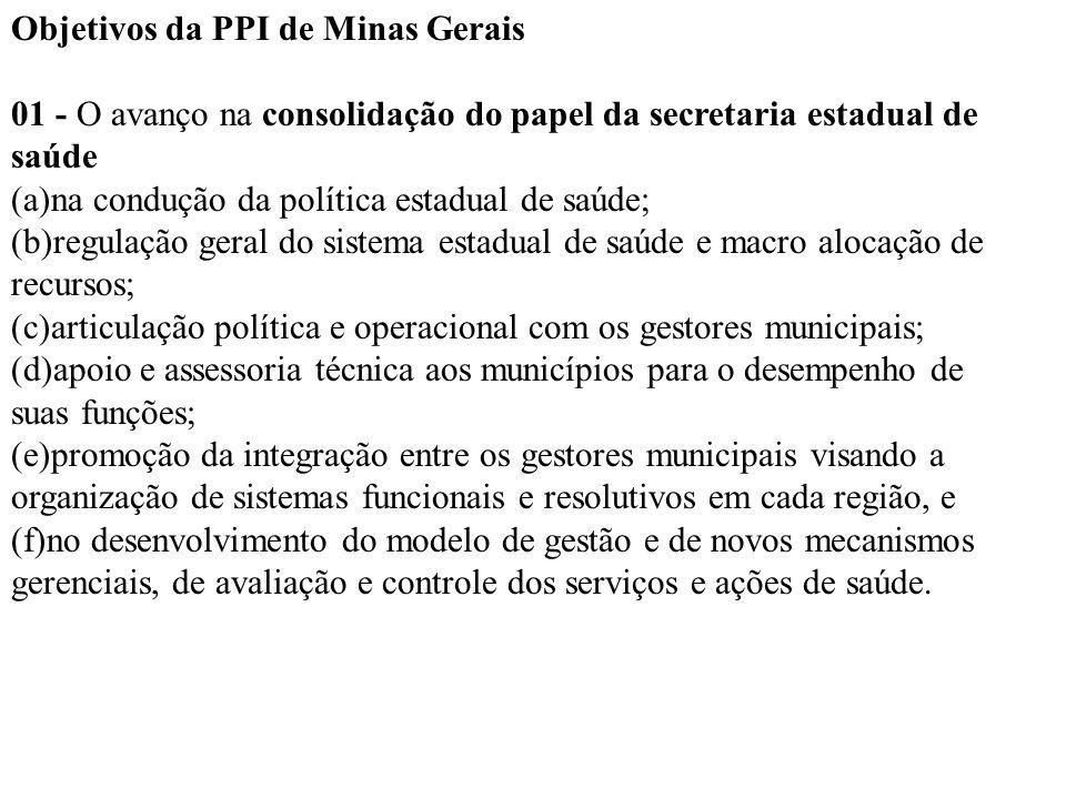 Objetivos da PPI de Minas Gerais