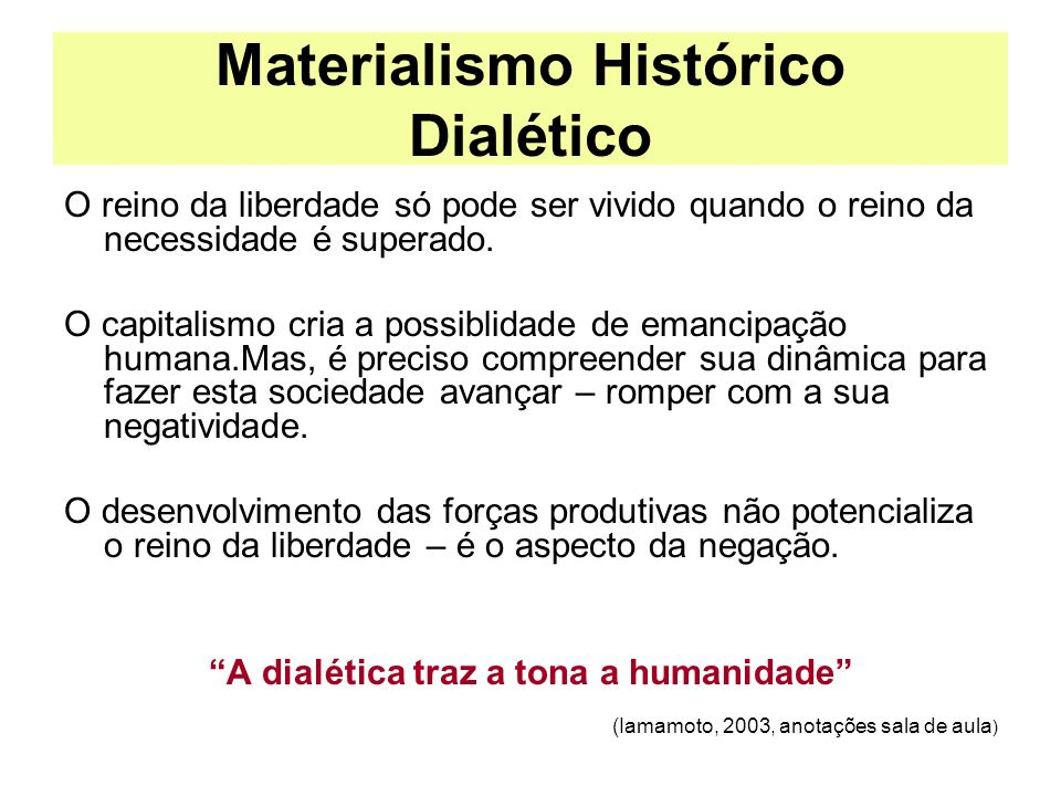 Materialismo Histórico Dialético