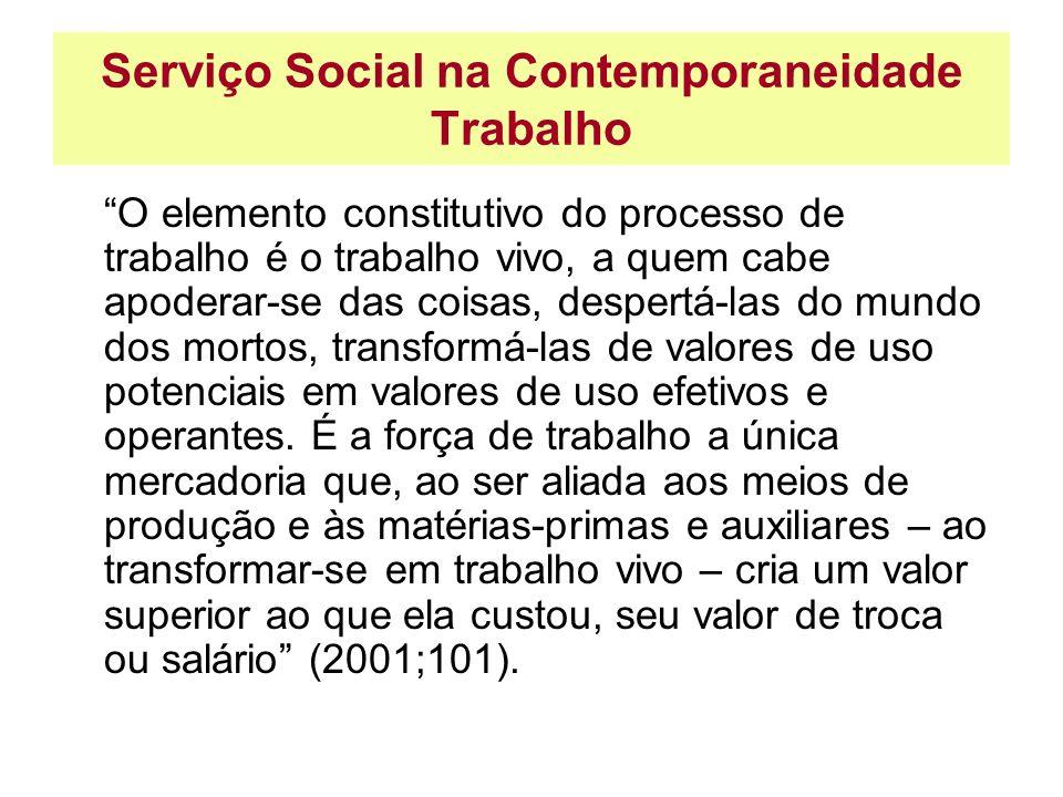 Serviço Social na Contemporaneidade Trabalho