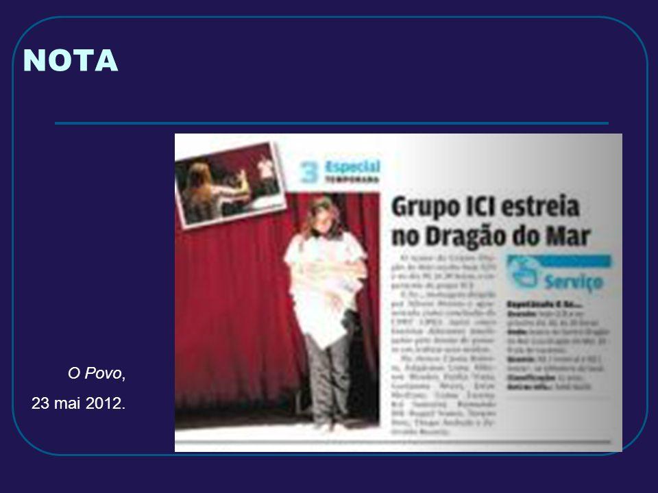 NOTA O Povo, 23 mai 2012.
