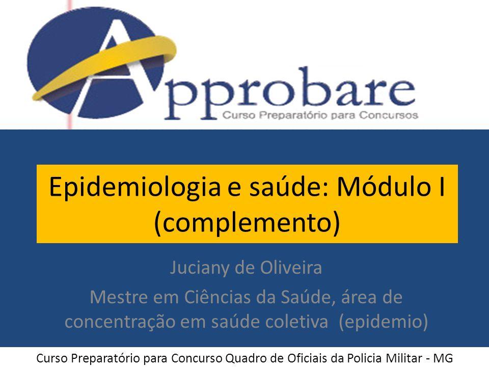 Epidemiologia e saúde: Módulo I (complemento)