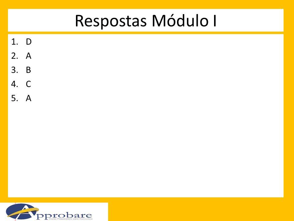 Respostas Módulo I D A B C