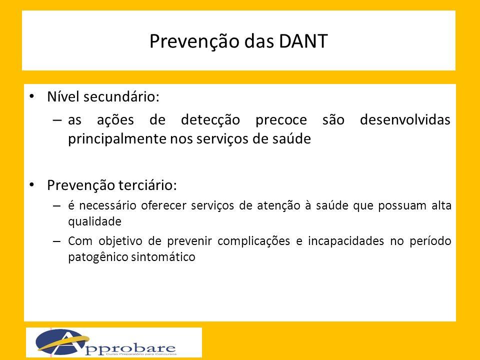 Prevenção das DANT Nível secundário: