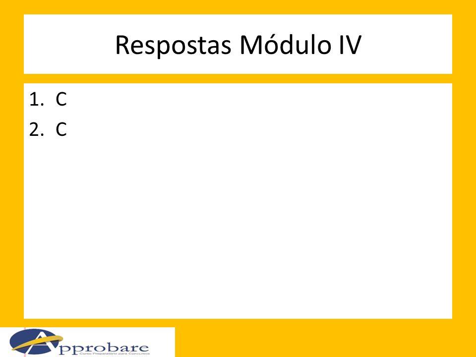 Respostas Módulo IV C