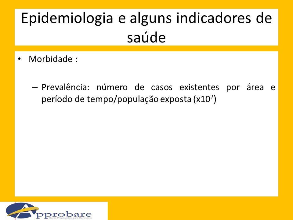 Epidemiologia e alguns indicadores de saúde