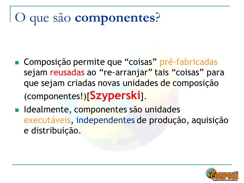 O que são componentes