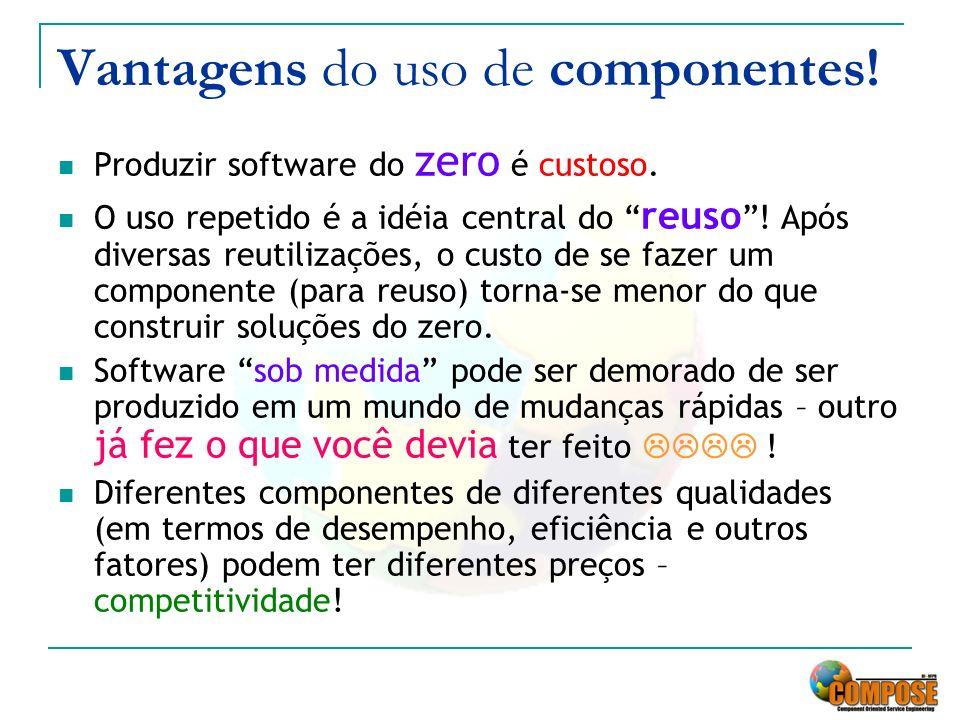 Vantagens do uso de componentes!