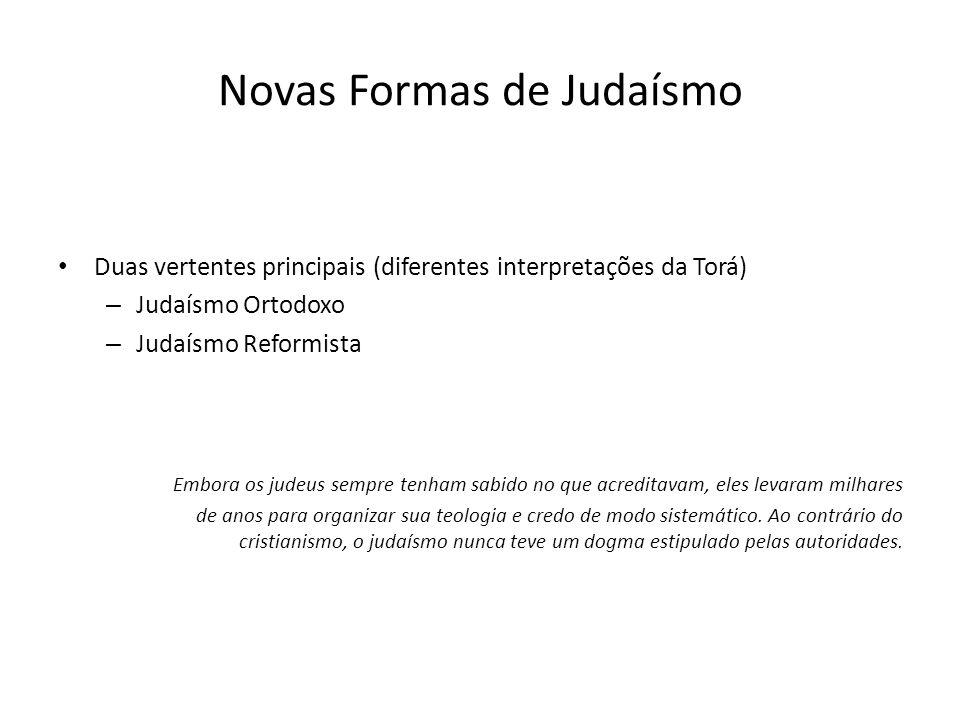 Novas Formas de Judaísmo