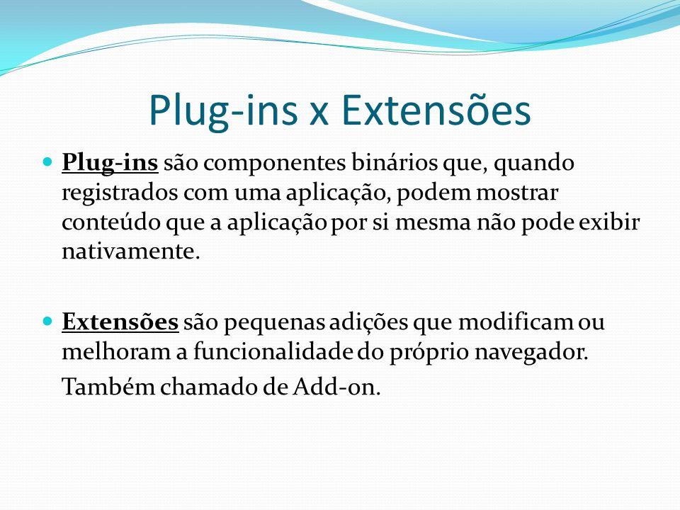 Plug-ins x Extensões
