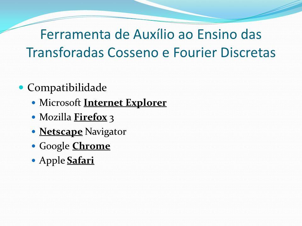 Ferramenta de Auxílio ao Ensino das Transforadas Cosseno e Fourier Discretas