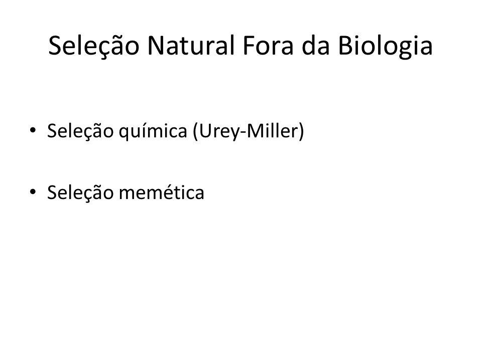 Seleção Natural Fora da Biologia