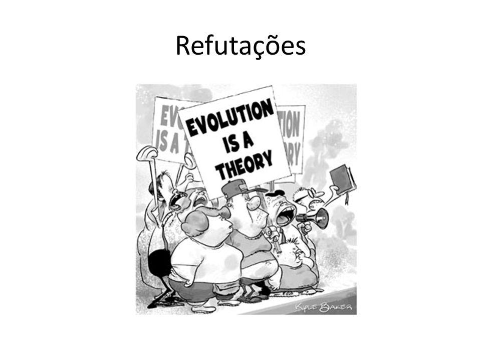 Refutações Agora vamos responder a algumas refutações propostas pelos criacionistas sobre a teoria da evolução e outros.