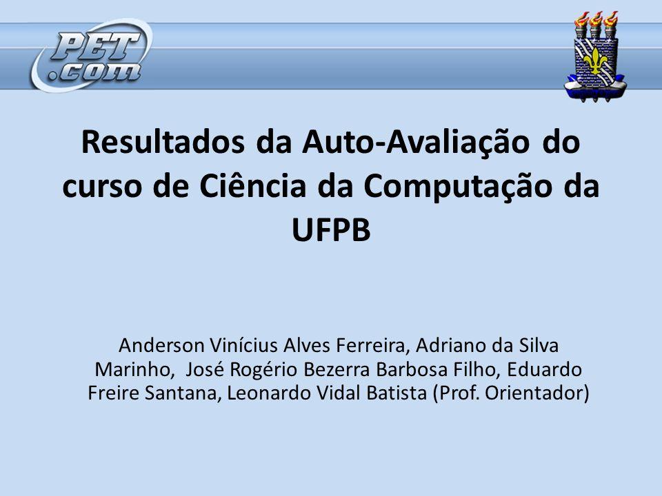 Resultados da Auto-Avaliação do curso de Ciência da Computação da UFPB