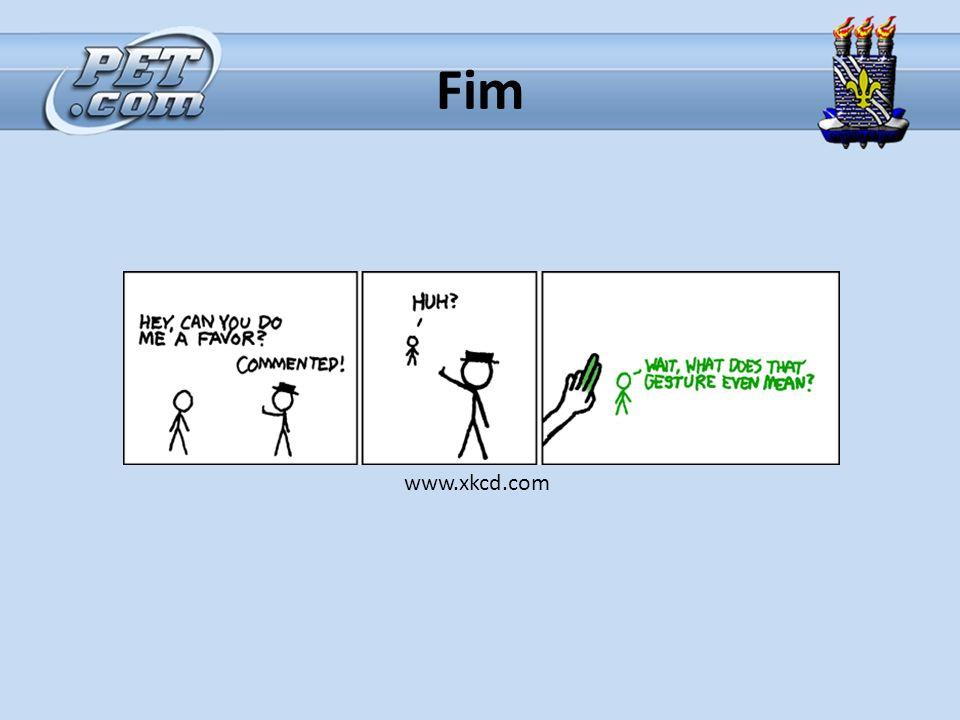 Fim www.xkcd.com
