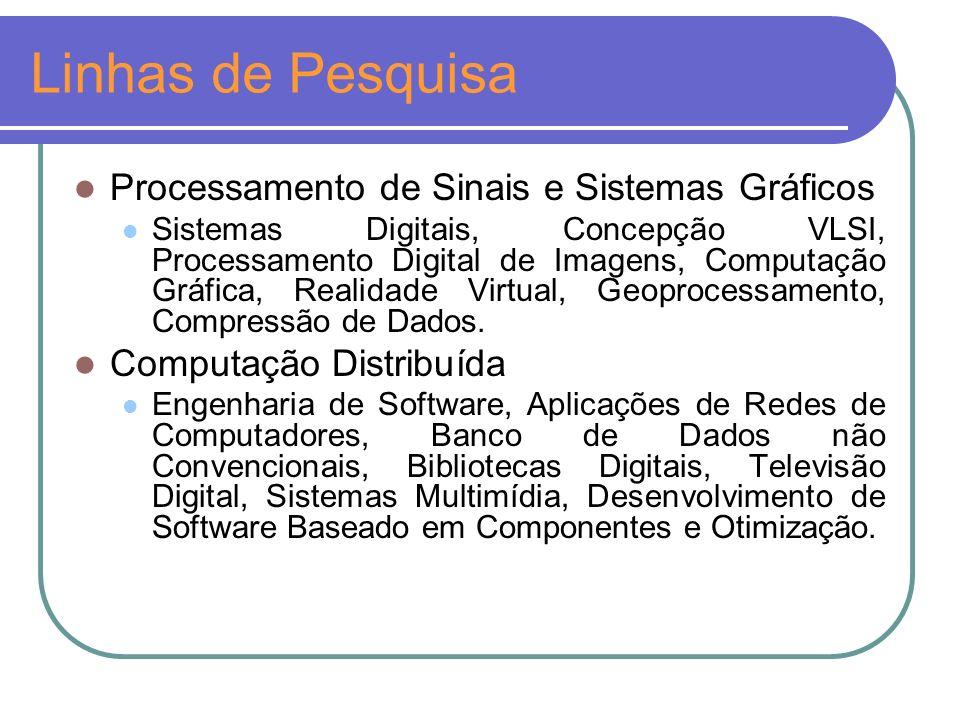 Linhas de Pesquisa Processamento de Sinais e Sistemas Gráficos
