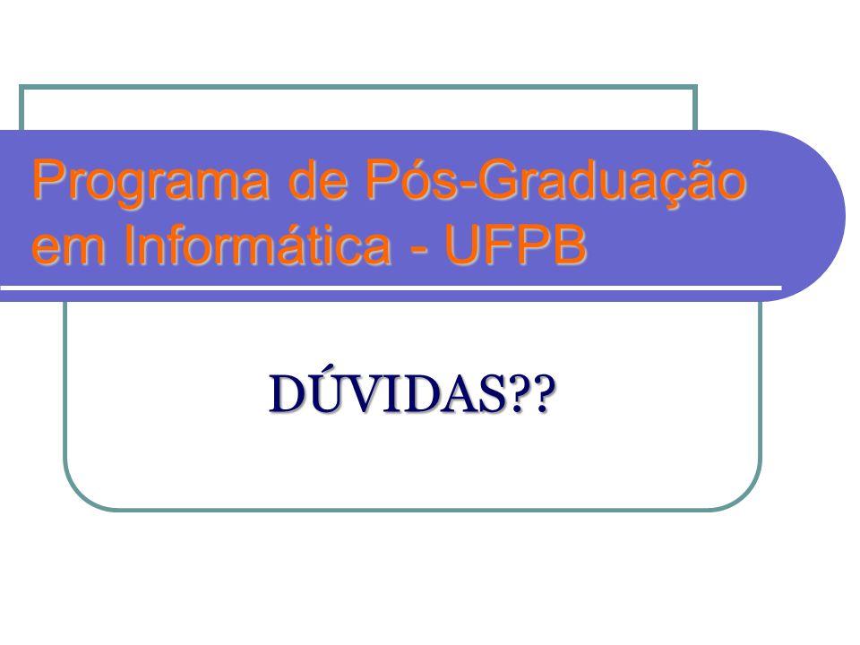 Programa de Pós-Graduação em Informática - UFPB
