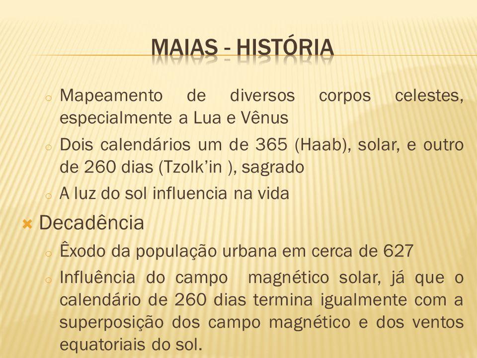 Maias - história Decadência