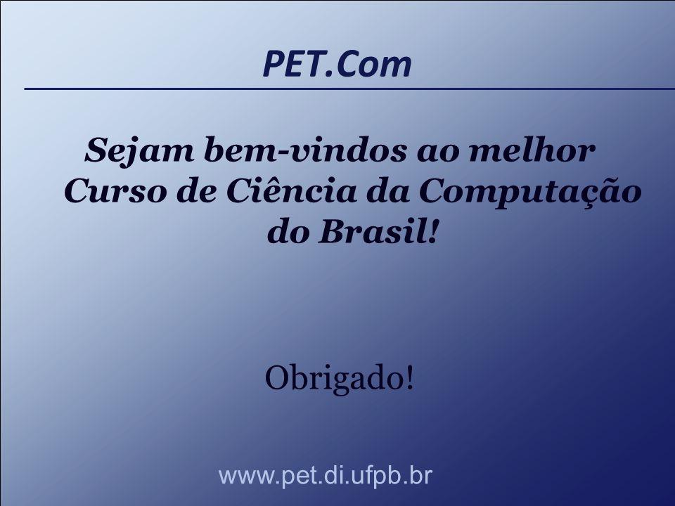 Sejam bem-vindos ao melhor Curso de Ciência da Computação do Brasil!