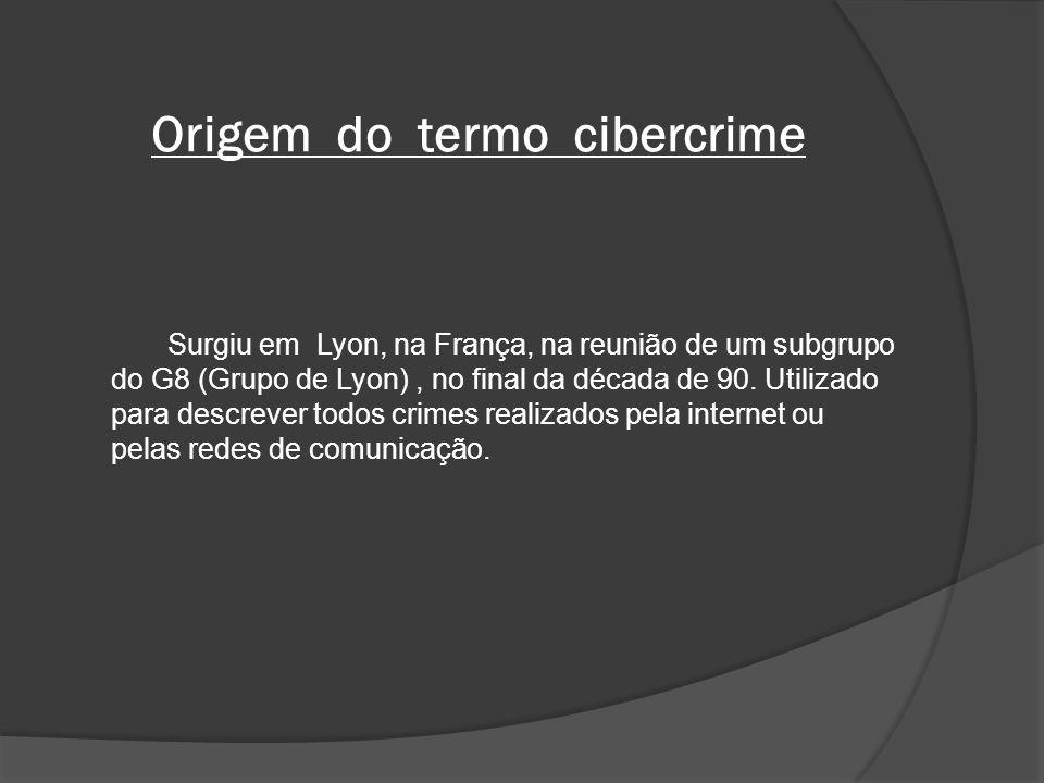 Origem do termo cibercrime