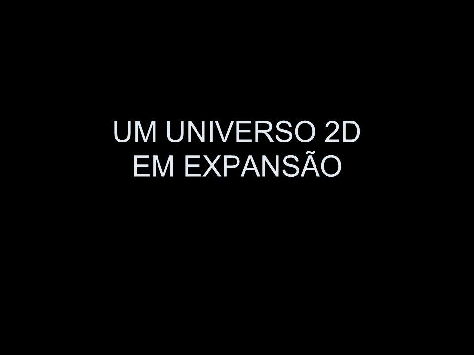 UM UNIVERSO 2D EM EXPANSÃO