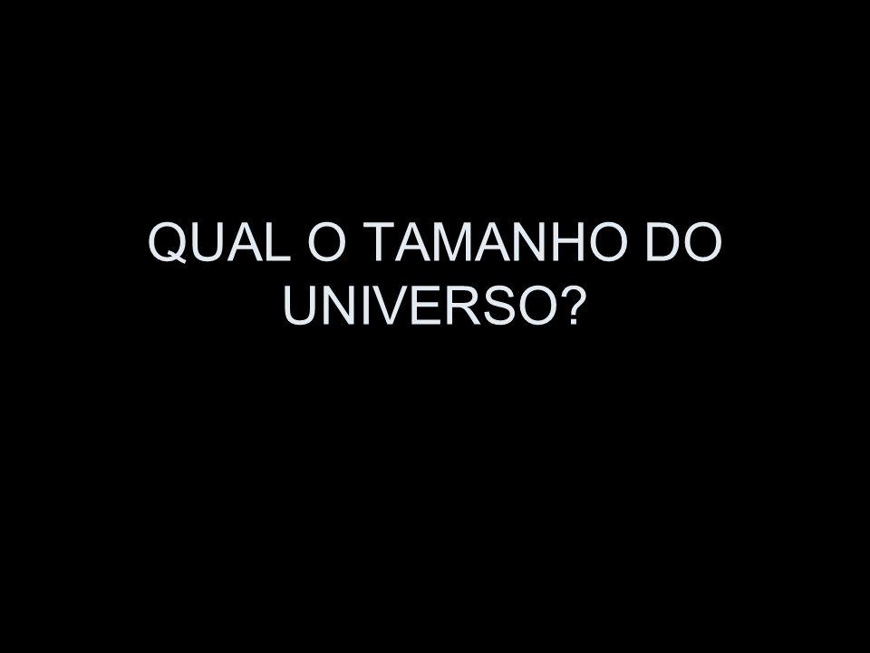 QUAL O TAMANHO DO UNIVERSO