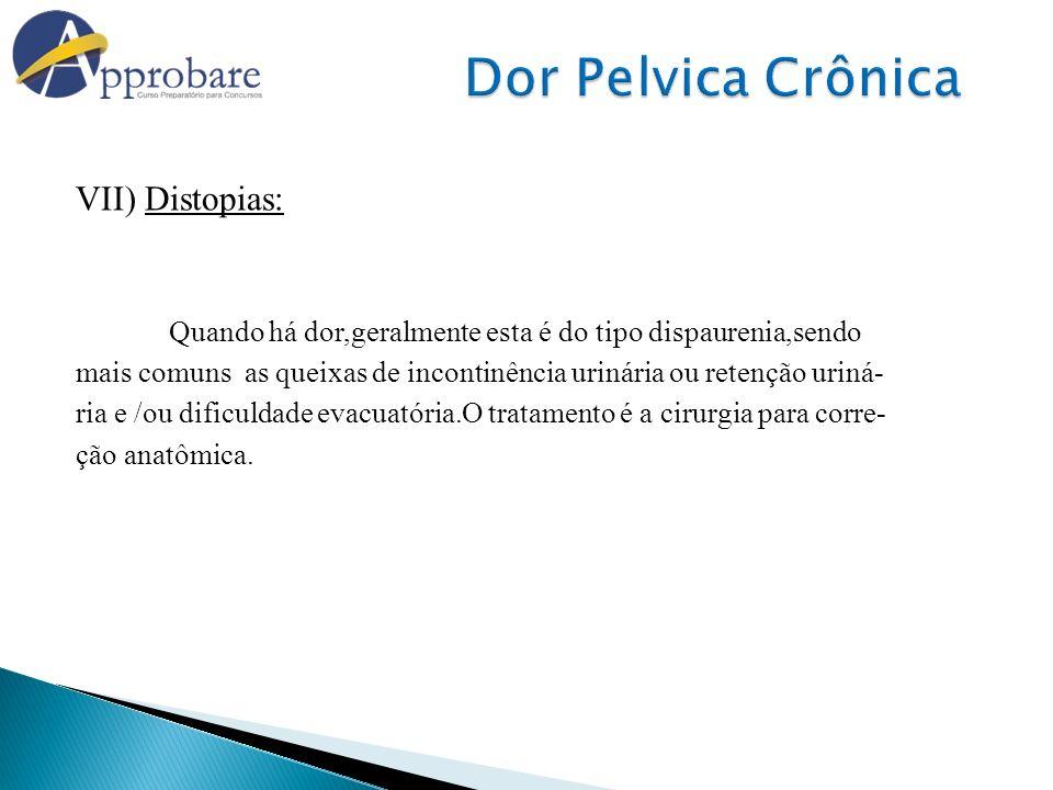 Dor Pelvica Crônica VII) Distopias: