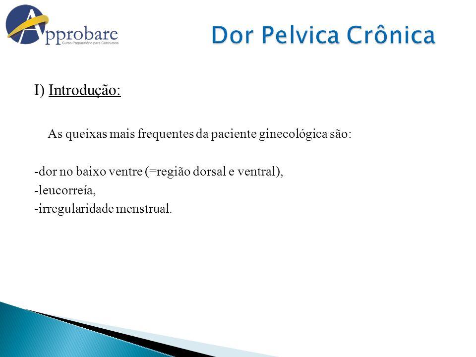 Dor Pelvica Crônica I) Introdução: