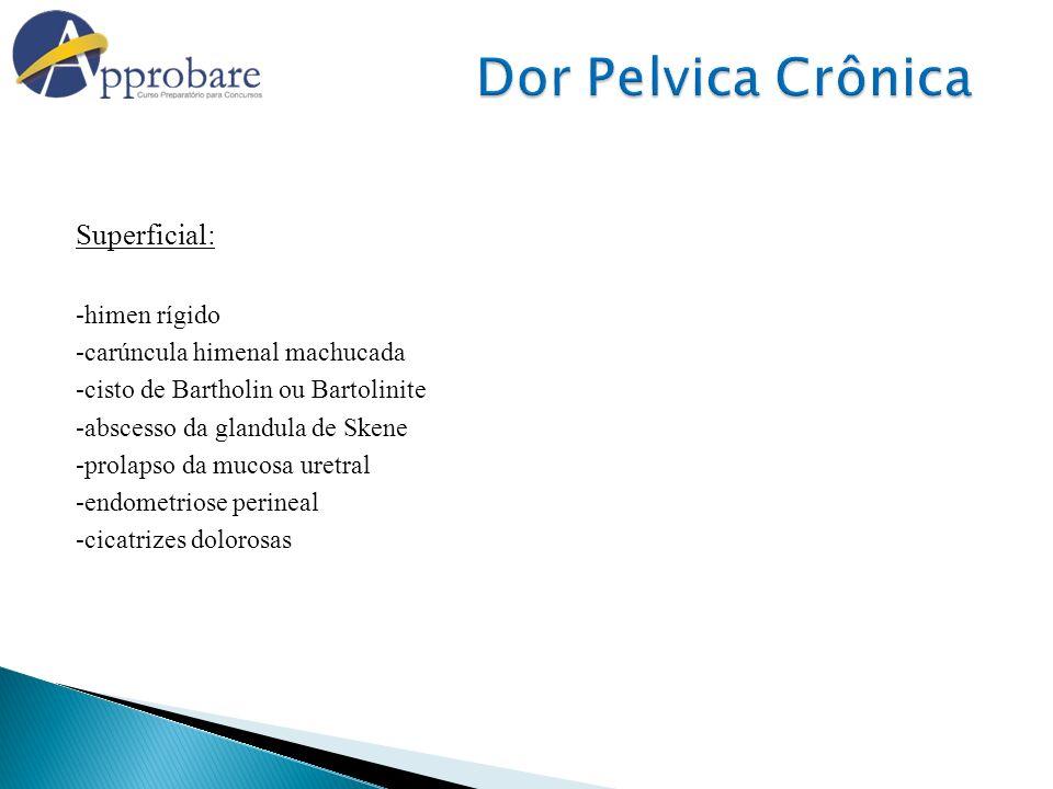 Dor Pelvica Crônica Superficial: -himen rígido
