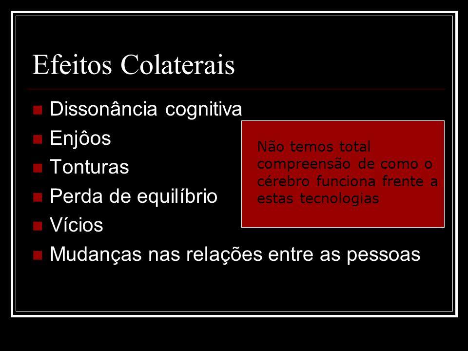Efeitos Colaterais Dissonância cognitiva Enjôos Tonturas