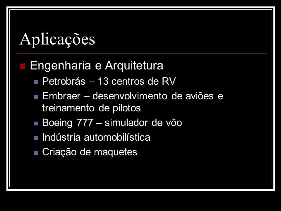 Aplicações Engenharia e Arquitetura Petrobrás – 13 centros de RV