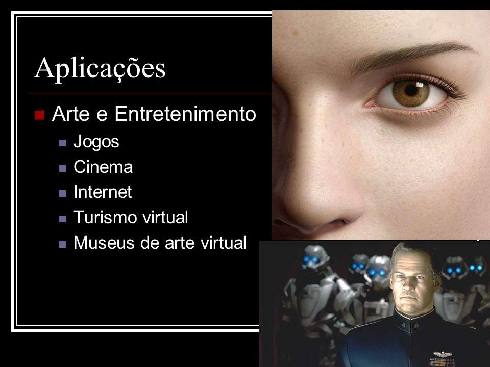 Aplicações Arte e Entretenimento Jogos Cinema Internet Turismo virtual