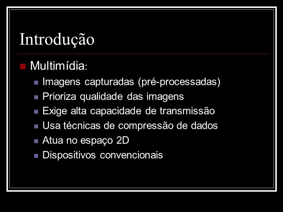 Introdução Multimídia: Imagens capturadas (pré-processadas)
