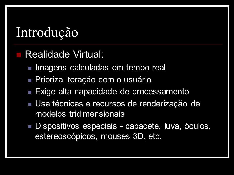 Introdução Realidade Virtual: Imagens calculadas em tempo real